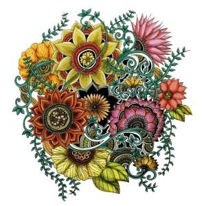 Flower explosion color
