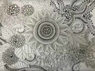 botanical zentangle tomohiro makino
